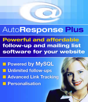 AutoResponse Plus - Powerful and affordable follow-up and mailing list software for your website.